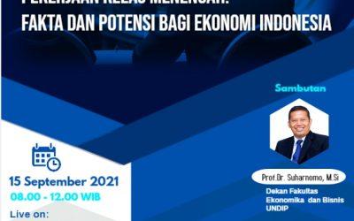 """Webinar """"Pekerjaan Kelas Menengah: Fakta dan Potensi Bagi Ekonomi Indonesia"""" Program Studi Magister Ekonomi FEB Undip"""